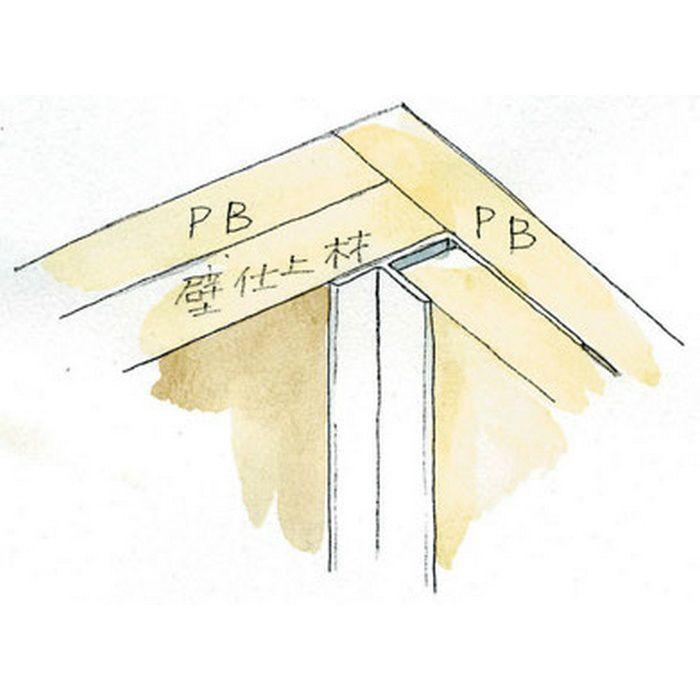 入隅ジョイナー ビニール 入隅スーパー 3 ホワイト 2.5m  37091-1