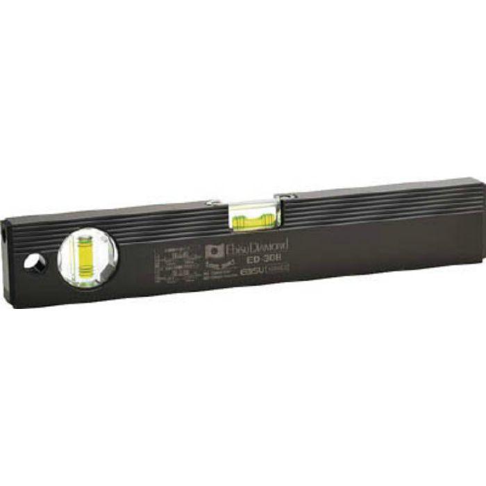 磁石付ベーシックレベルブラック300mm ブラック/グリーン ED30MB