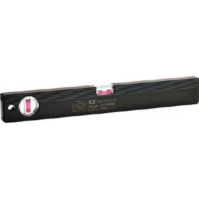 磁石付ベーシックレベルブラック 380mm ブラック/レッド ED38MBR
