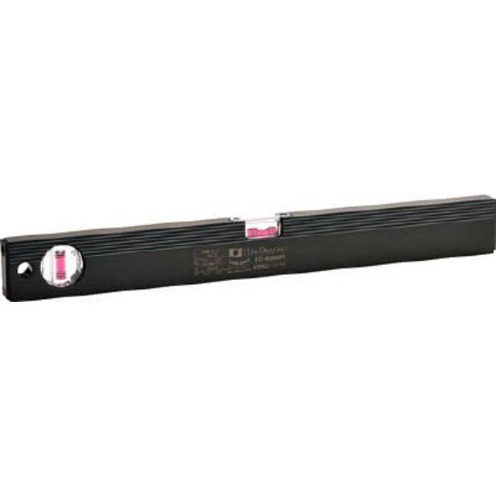 磁石付ベーシックレベルブラック 450mm ブラック/レッド ED45MBR