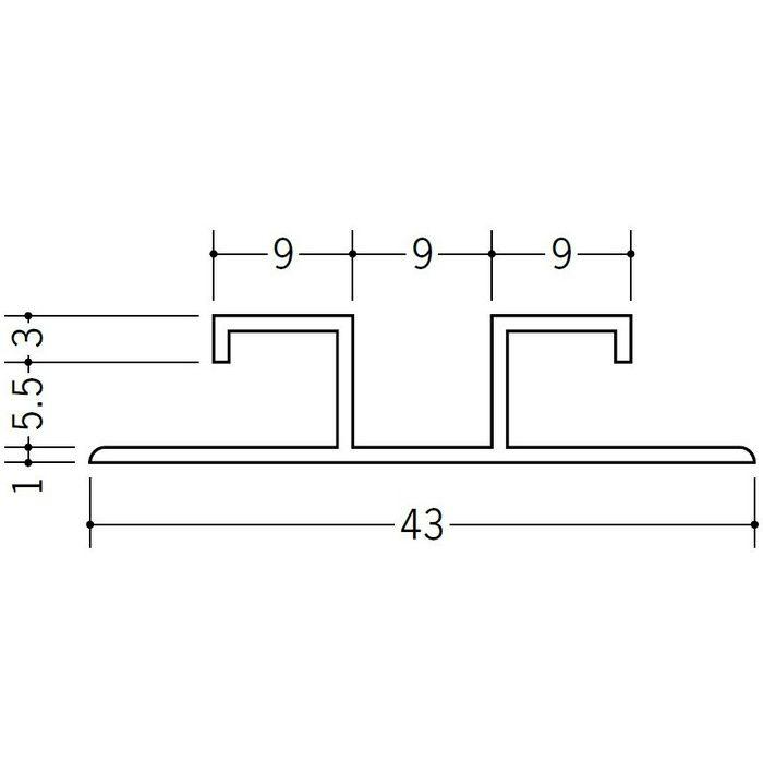 ハット型ジョイナー ビニール ハット型 EAG-5.5 ホワイト 2.73m  35242