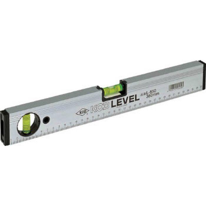 マグネット付 箱型アルミレベル L550M230MM