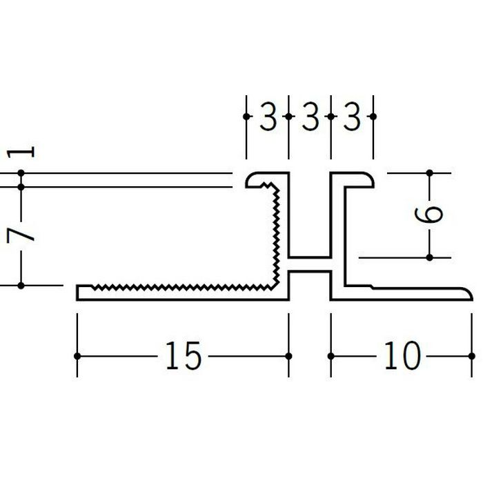 ハット型ジョイナー ビニール PM-3×7 ホワイト 1.82m  35166