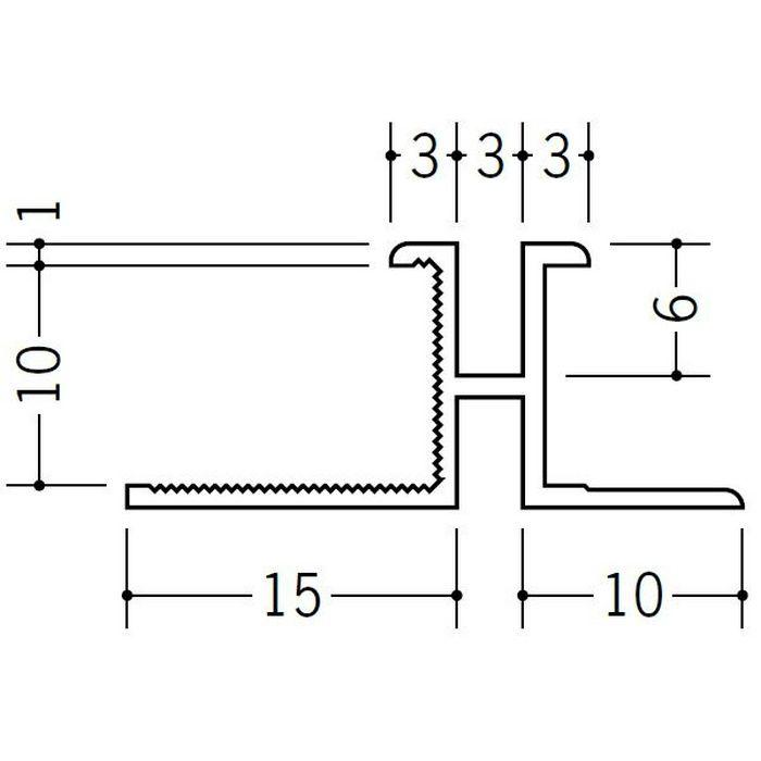 ハット型ジョイナー ビニール PM-3×10 ホワイト 1.82m  35168