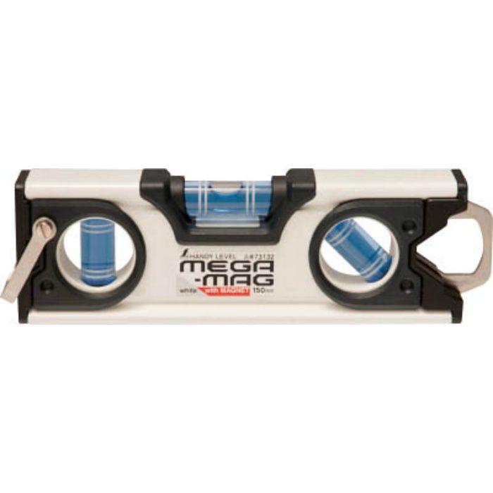ハンディレベル MEGA-MAG 150mm白マグネット付 73132
