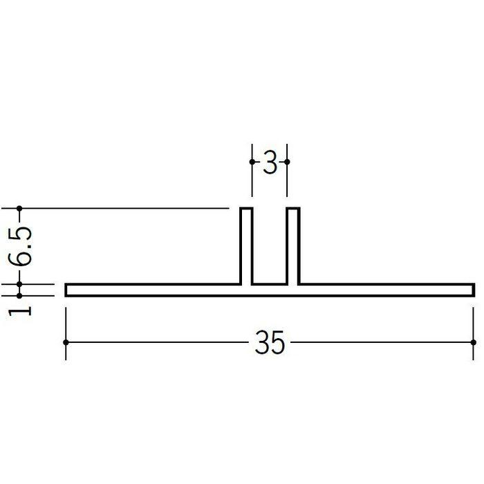 ハット型ジョイナー ビニール PHW-6 ホワイト 3m  37114-2