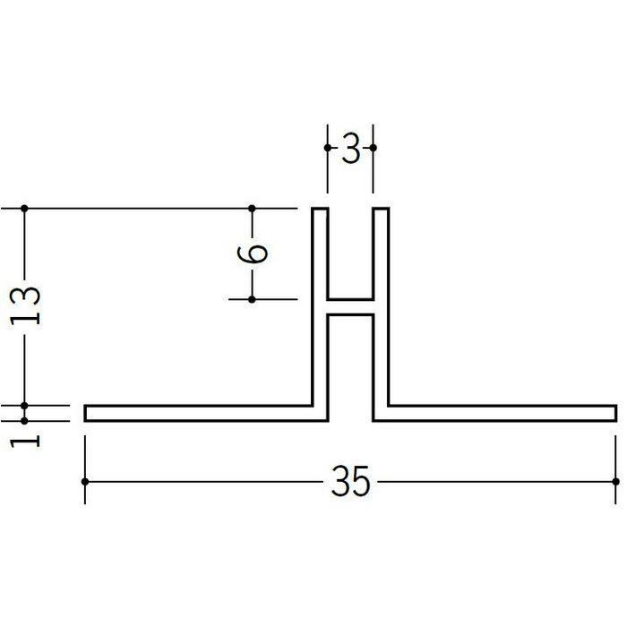 ハット型ジョイナー ビニール PHW-12 ホワイト 2.5m  37116-1