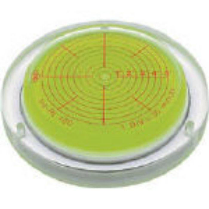取付穴付角度計付丸台型アイベル水平器 INCRT125