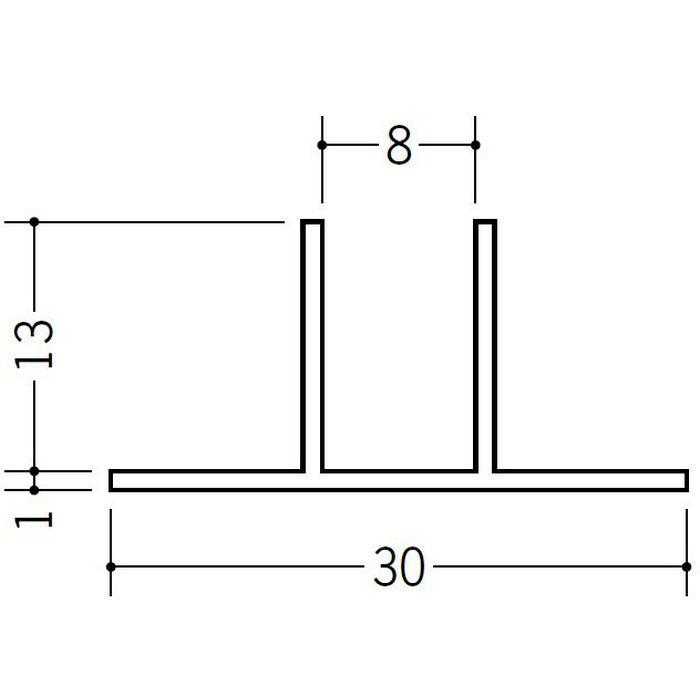 ハット型ジョイナー ビニール PWE-13 ホワイト 2.5m  35165