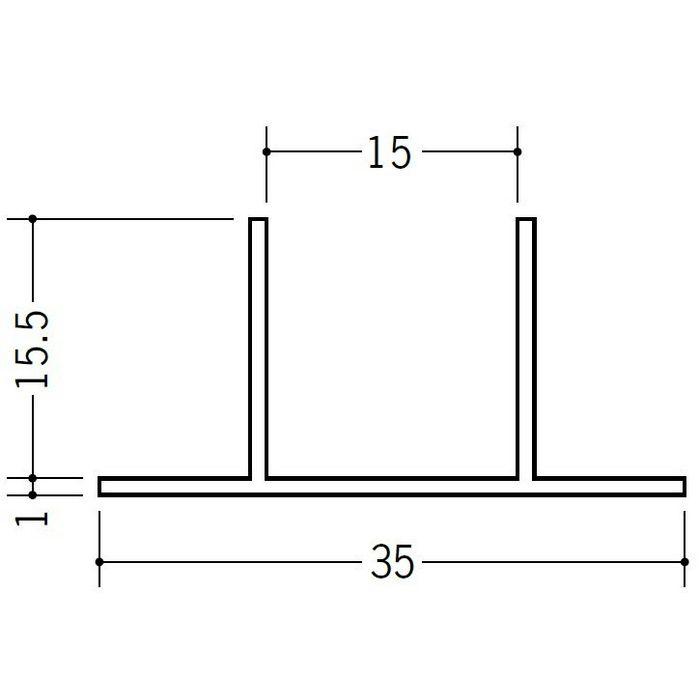 ハット型ジョイナー ビニール PW-315 ホワイト 2.5m  37072