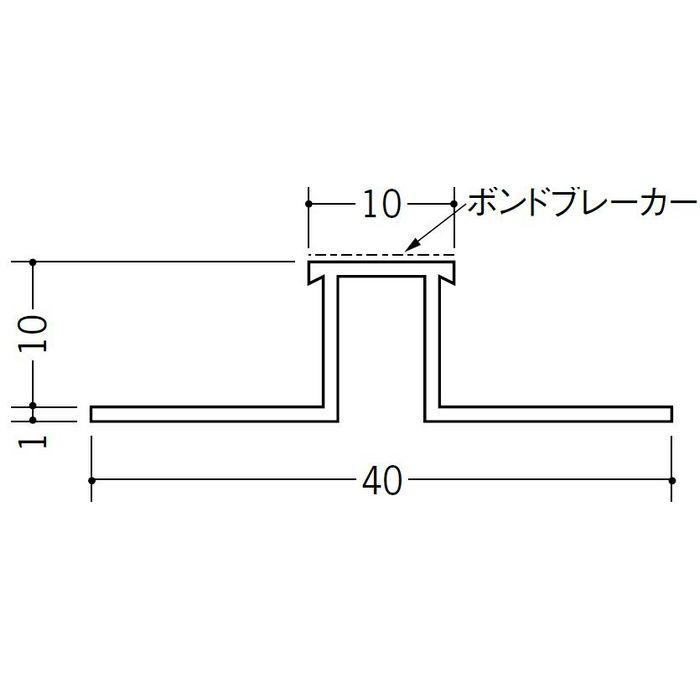 ハット型ジョイナー サイディング用 ビニール SJR-1010B ホワイト 2.73m  35207