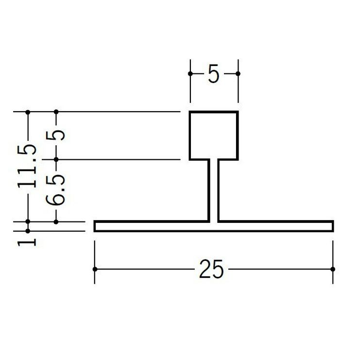 T型ジョイナー ビニール PWT-506 ホワイト 2.73m  28031