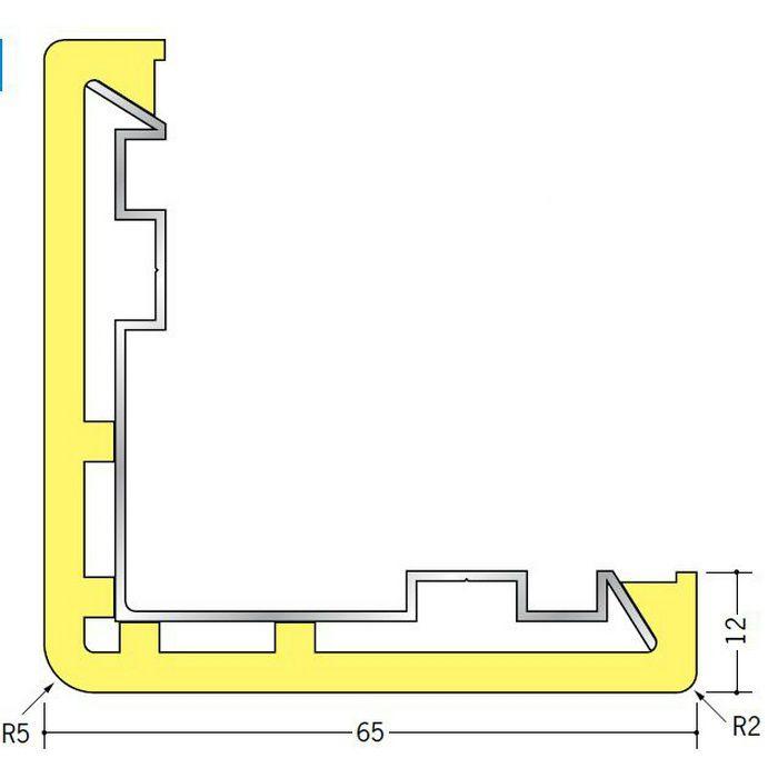 コーナー保護アングル ビニール クッションガード L-65 オフホワイト 2m  09006-7