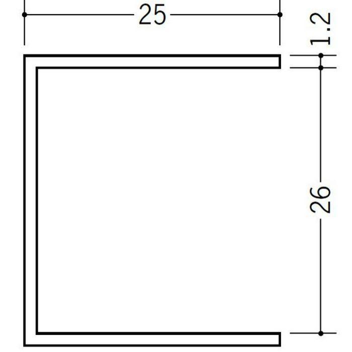断熱材用ジョイナー コ型 ビニール BSC-26 クリーム 2.73m  35131-2
