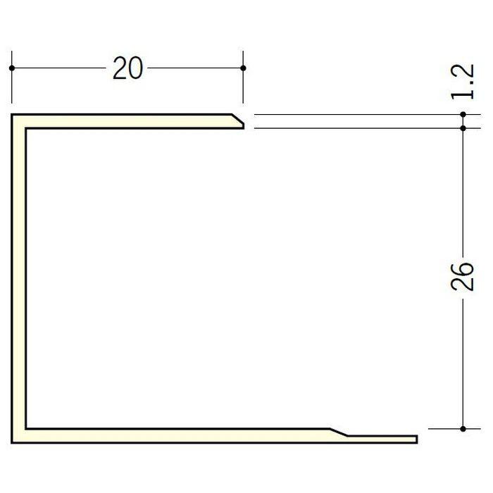 断熱材用ジョイナー コ型 ビニール コ型26 ホワイト 2.73m  35064-1