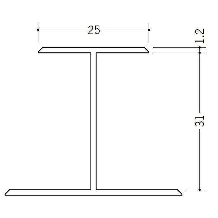 断熱材用ジョイナー H型 ビニール H型31 ホワイト 2.73m  35072-1