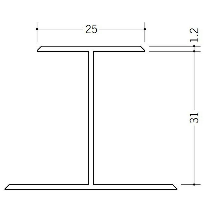 断熱材用ジョイナー H型 ビニール H型31 クリーム 2.73m  35072-2