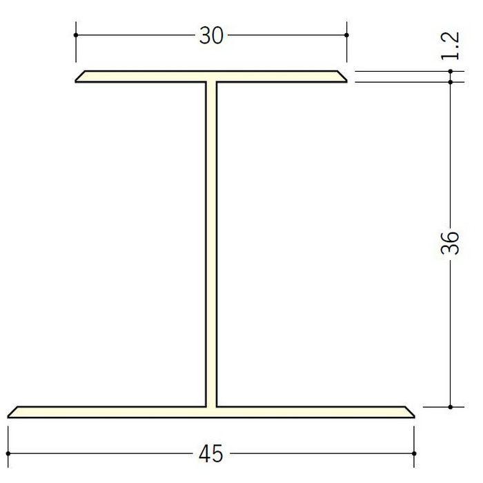 断熱材用ジョイナー H型 ビニール H型36 クリーム 2.73m  35060-2