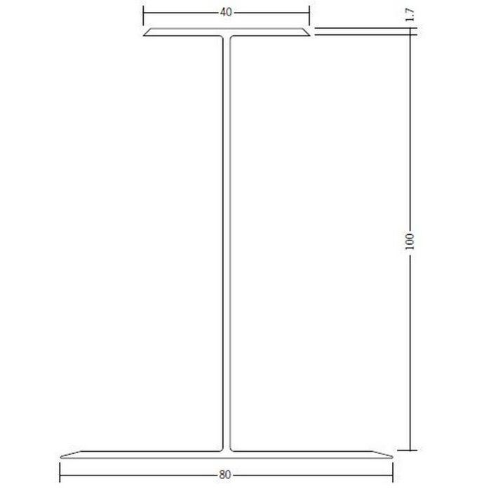 断熱材用ジョイナー H型 ビニール H型100 クリーム 2.73m  35094-2
