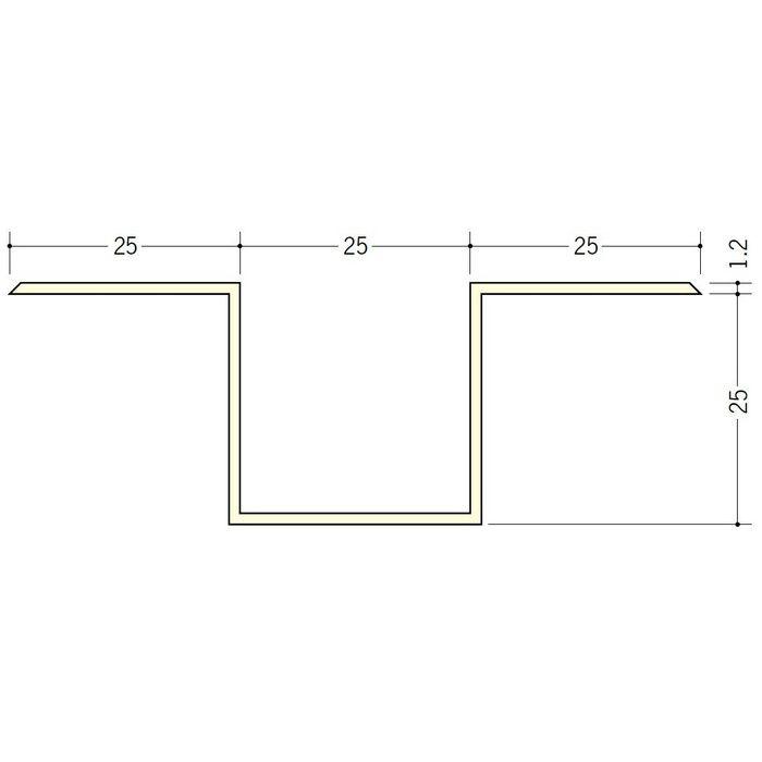 断熱材用ジョイナー ハット型 ビニール ハット型25 ホワイト 2.73m  35067-1