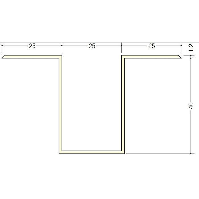 断熱材用ジョイナー ハット型 ビニール ハット型40 ホワイト 2.73m  35098-1