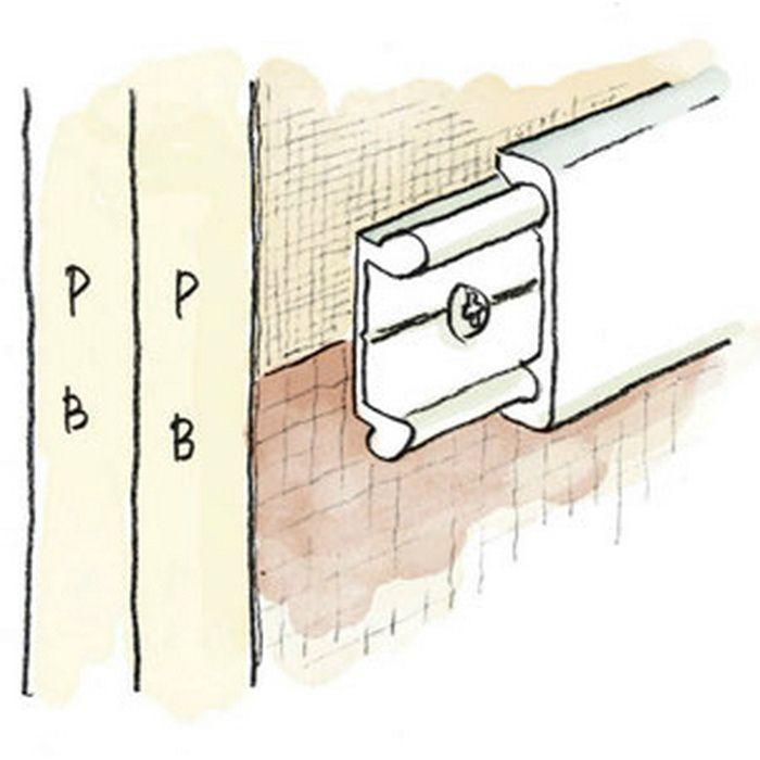 腰壁見切 ビニール Pモール20 木目調(ベース:ホワイト) 2m  33261-3