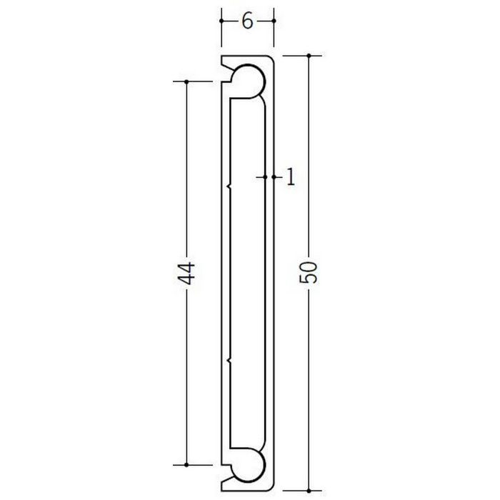 腰壁見切 ビニール Pモール50 木目調(ベース:ホワイト) 2m  33264-3