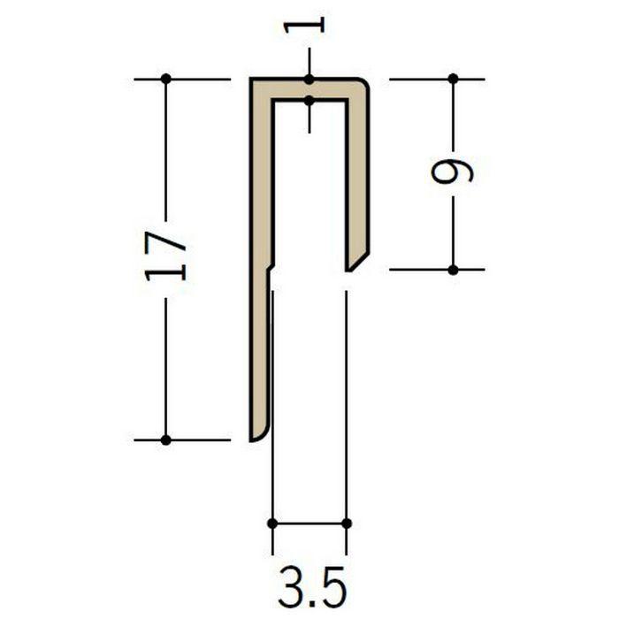 立ち上げ見切 ビニール GC-3.5カラー オフホワイト 2.73m  32001-1