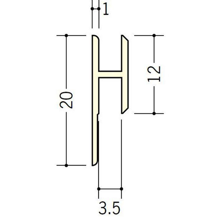 立ち上げ見切 ビニール HG-3.5カラー アイボリー 2.73m  32008-2