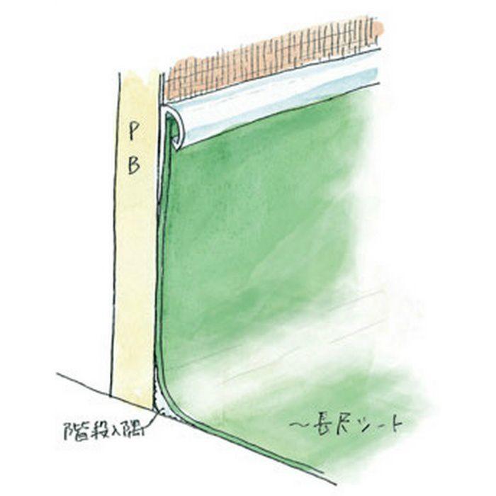 立ち上げ見切 ビニール 立ち上げ見切5型 ベージュ 2m  38001-2