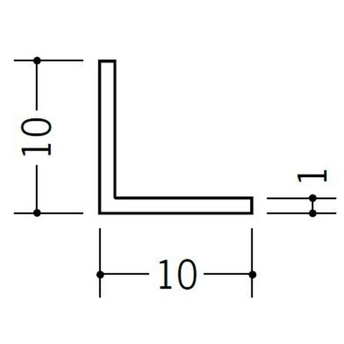 アングル 等辺 ビニール アングル10(t=1.0) ホワイト 2.73m  36004-2