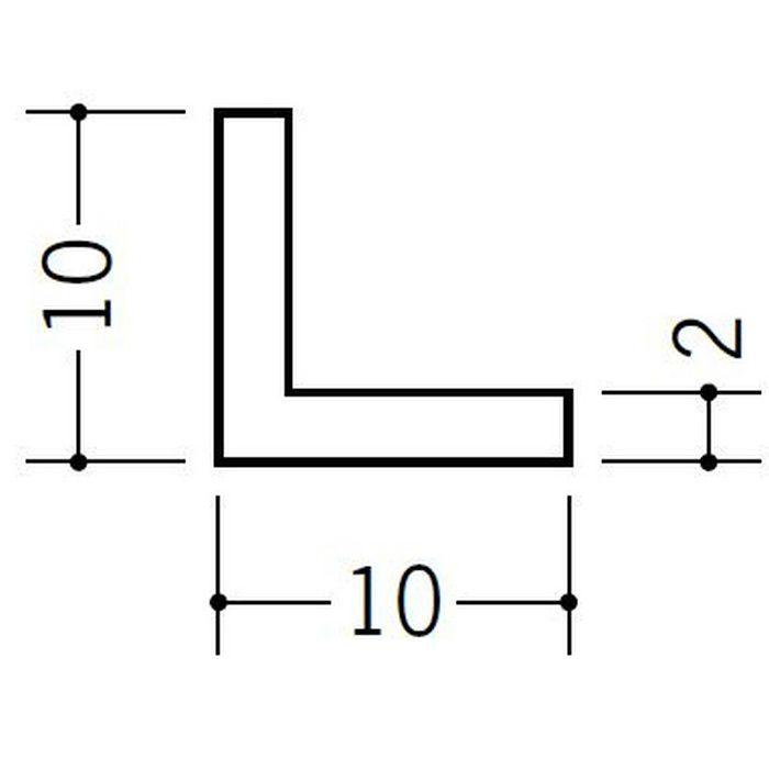 アングル 等辺 ビニール アングル10(t=2.0) ホワイト 1.82m  36322-1