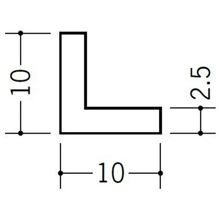 アングル 等辺 ビニール アングル10(t=2.5) ホワイト 2.73m  36323-2