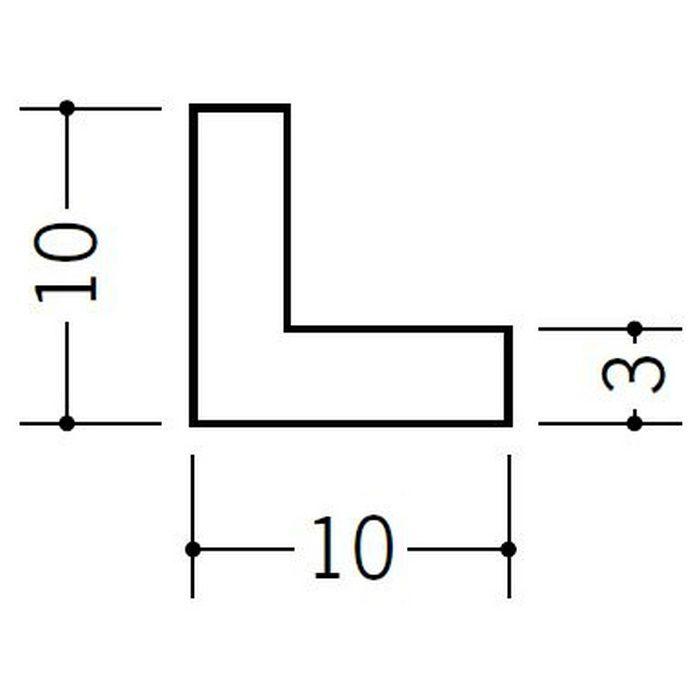 アングル 等辺 ビニール アングル10(t=3.0) ホワイト 1.82m  36324-1