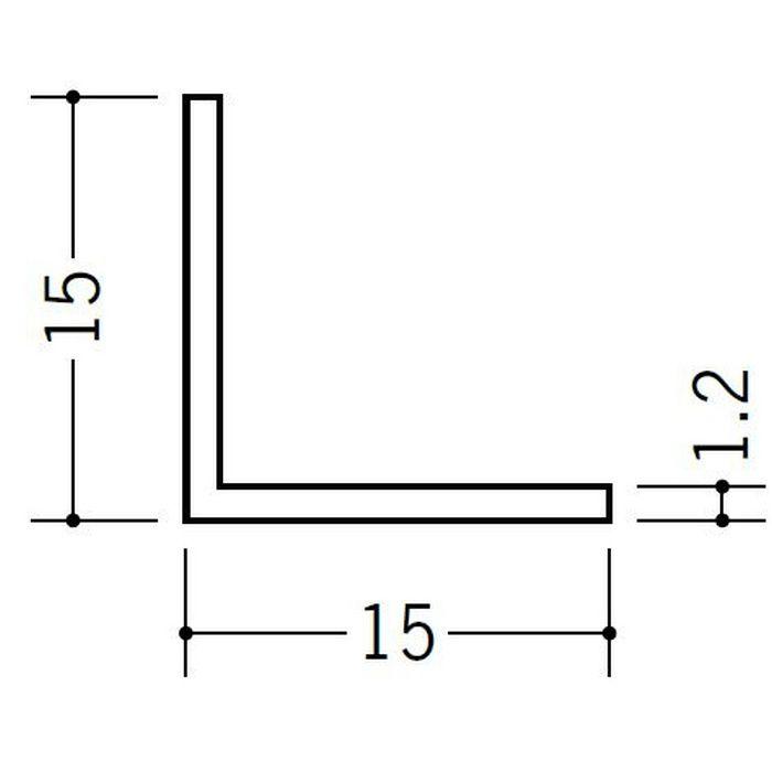 アングル 等辺 ビニール アングル15(t=1.2) ホワイト 1.82m  36006
