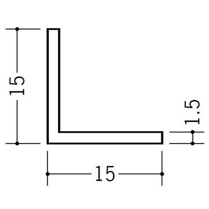 アングル 等辺 ビニール アングル15(t=1.5) ホワイト 2.73m  36329-2