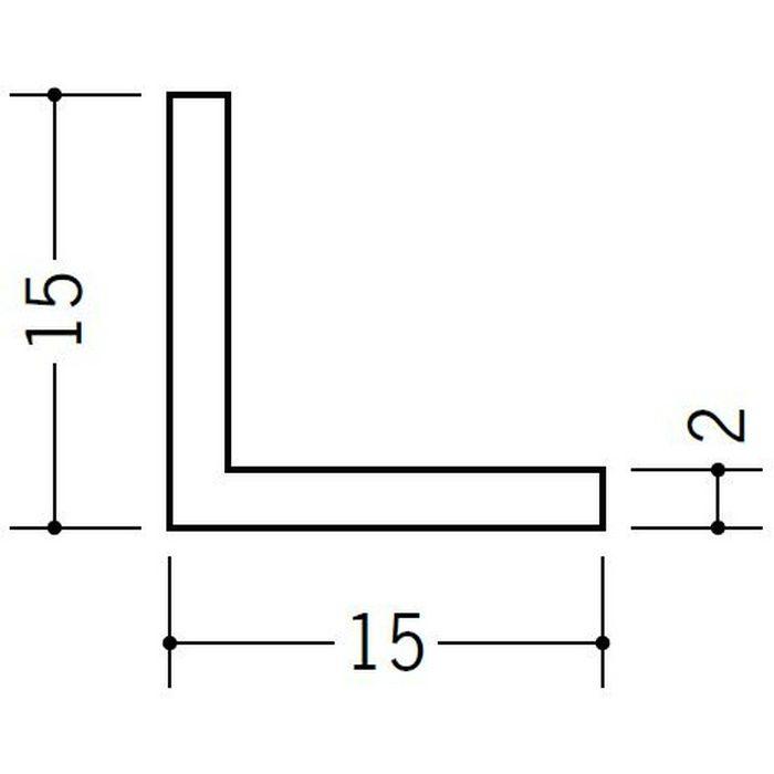 アングル 等辺 ビニール アングル15(t=2.0) ホワイト 2.73m  36330-2