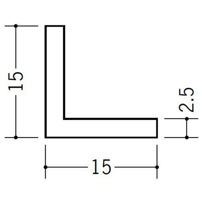 アングル 等辺 ビニール アングル15(t=2.5) ホワイト 2.73m  36331-2