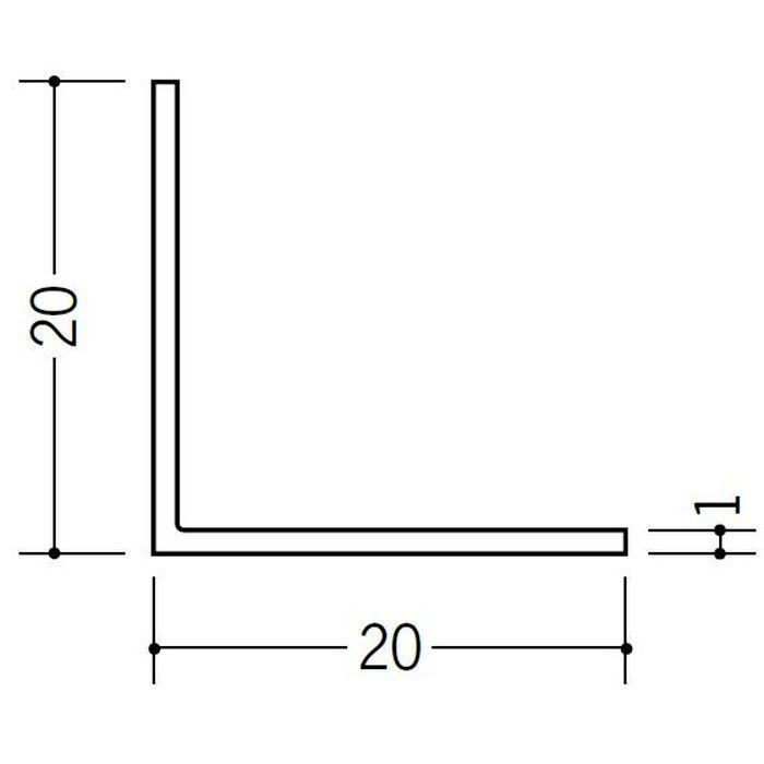 アングル 等辺 ビニール アングル20(t=1.0) ホワイト 2.73m  36107-2