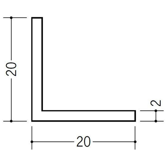 アングル 等辺 ビニール アングル20(t=1.5) ホワイト 3m  36007-3