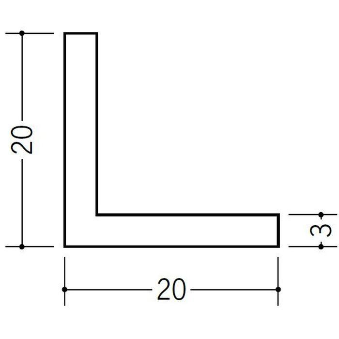 アングル 等辺 ビニール アングル20(t=2.5) ホワイト 2.73m  36334-2