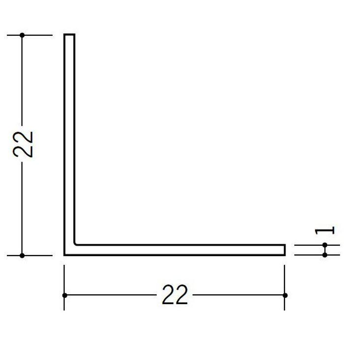 アングル 等辺 ビニール アングル22(t=1.0) ホワイト 2.73m  36108-2