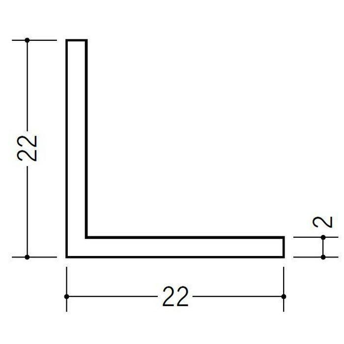 アングル 等辺 ビニール アングル22(t=2.0) ホワイト 2.73m  36335-2