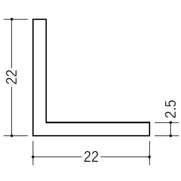 アングル 等辺 ビニール アングル22(t=2.5) ホワイト 1.82m  36336-1