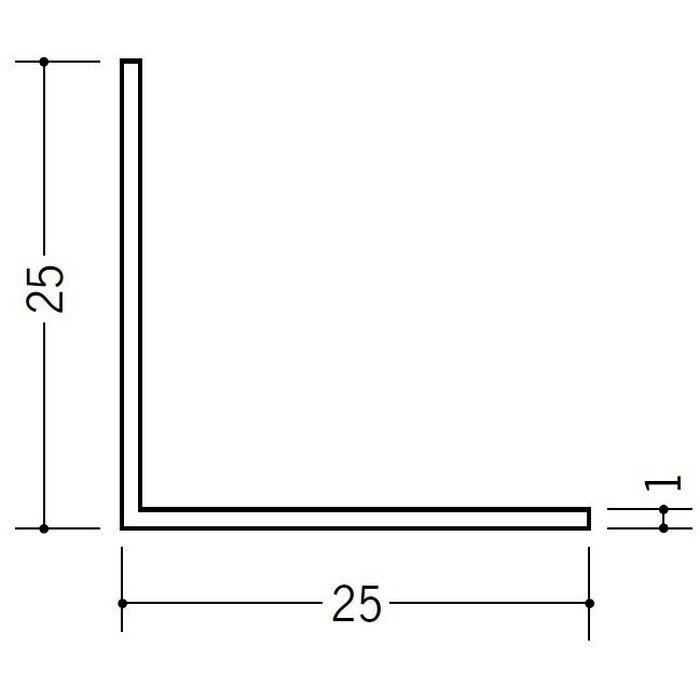 アングル 等辺 ビニール アングル25(t=1.0) ホワイト 1.82m  36109-1