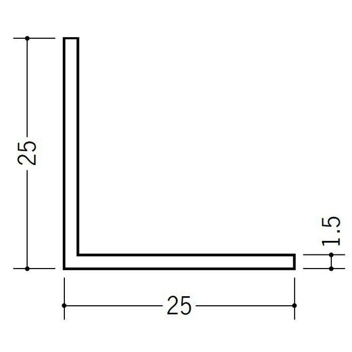 アングル 等辺 ビニール アングル25(t=1.5) ホワイト 2.73m  36009-2