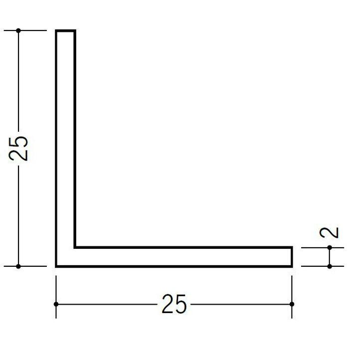アングル 等辺 ビニール アングル25(t=2.0) ホワイト 2.73m  36338-2