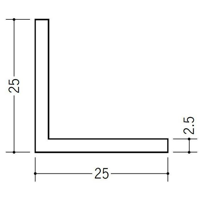 アングル 等辺 ビニール アングル25(t=2.5) ホワイト 1.82m  36339-1