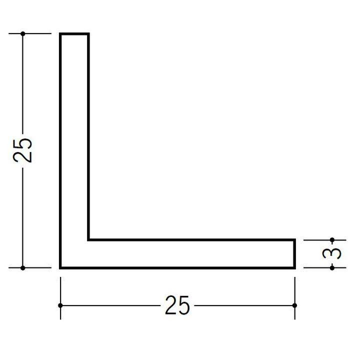 アングル 等辺 ビニール アングル25(t=3.0) ホワイト 2.73m  36182-2
