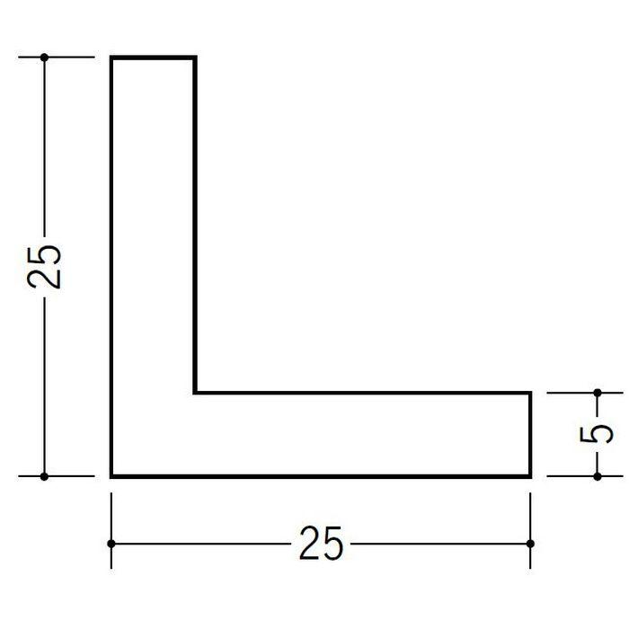アングル 等辺 ビニール アングル25(t=5.0) ホワイト 2.73m  36192